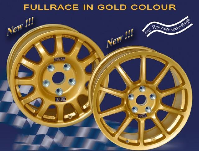 """Alu vyztužený závodní disk zlatý pro Subaru Braid Fullrace A GOLD 8x18"""" alu kolo na závody"""