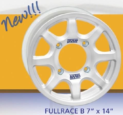 """Závodní alu disk Fullrace B 7x14"""" rozteče 4x98 4x130 Škoda až 4x156"""