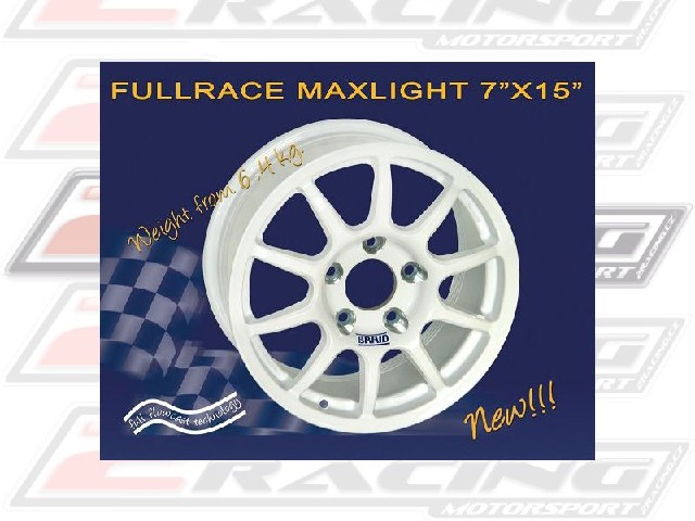 """Závodní alu disk Fullrace MAXLIGHT 7x15"""" s váhou od 6,4kg dle rozteče a ET +15 až +55"""