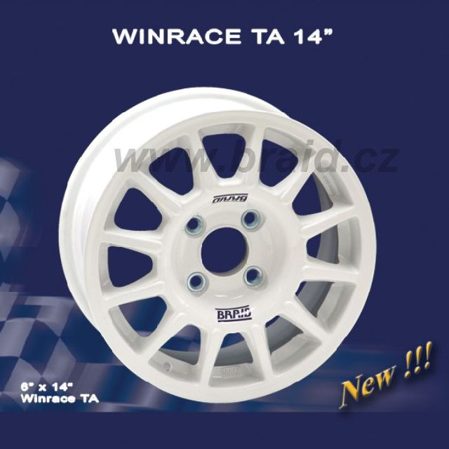 """Závodní disk Braid Winrace TA 6x14"""" rally závodní alu kolo na šotolinu/asfalt - závodní lité kolo"""