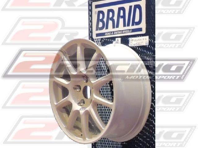 """Závodní vyztužený alu disk Braid Fullrace A 8x17"""" alu kolo na závody"""