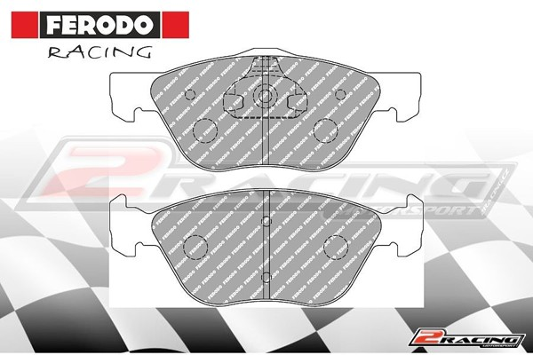 Přední závodní brzdové destičky Alfa Romeo 147 (2000 ) Ferodo FCP1052H 30e9b795f5