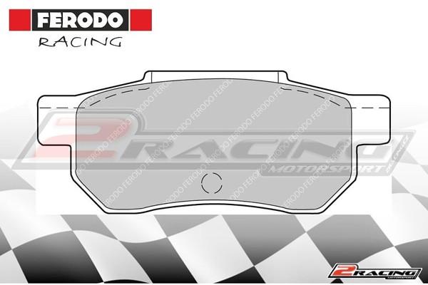 Zadní závodní brzdové destičky Honda Prelude (1987 1992) Ferodo FCP472H aa37bfc25c