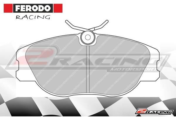 Přední závodní brzdové destičky Citroen Evasion (1995 ) Ferodo FCP565H 8e38854f33