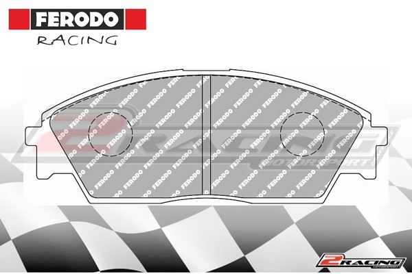 Přední závodní brzdové destičky Honda Prelude (1987 1992) Ferodo FCP598H 6a01095e3a