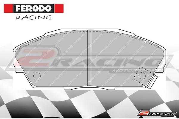 Přední závodní brzdové destičky Honda Prelude (1987 1991) Ferodo FCP748H f7c1fe07cd