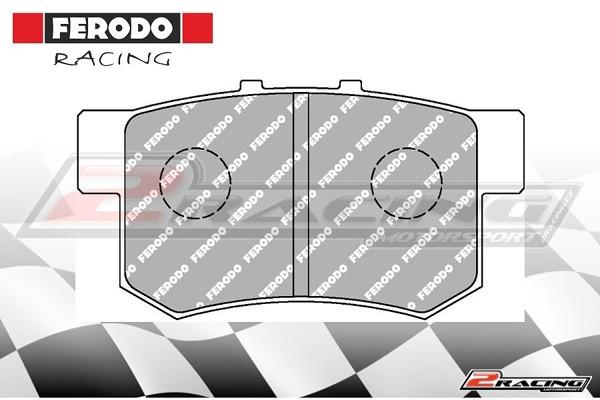 Zadní závodní brzdové destičky Honda Prelude (1992 ) Ferodo FCP956H 0664175446